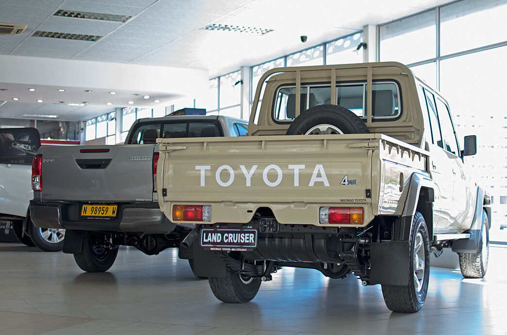 Indongo Toyota Bakkies in Showroom