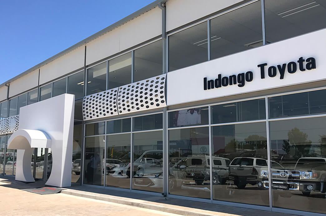 Indongo Toyota Showroom Outside